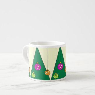 Árbol de navidad con los bulbos en XMAS14 amarillo Taza De Espresso