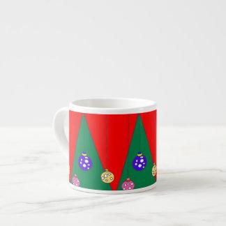Árbol de navidad con los bulbos en XMAS15 rojo Taza De Espresso
