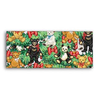 Árbol de navidad con los ornamentos del oso de pel