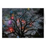 Árbol de navidad cósmico - 2 tarjeton