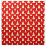 Árbol de navidad cualquier rojo del color servilletas