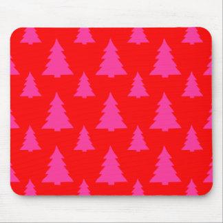 Árbol de navidad cualquier rojo del color alfombrilla de ratón