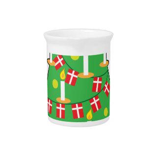 Árbol de navidad danés jarrones