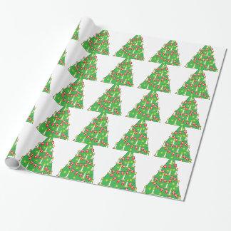 Árbol de navidad danés papel de regalo