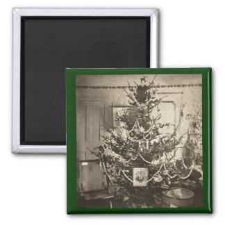 Árbol de navidad de antaño de Stereoview Imán Para Frigorífico