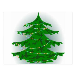 Árbol de navidad de Camo Tarjeta Postal