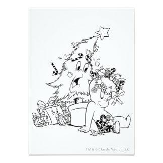 """Árbol de navidad de Casper Invitación 5"""" X 7"""""""