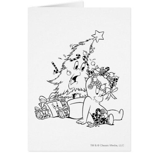 Árbol de navidad de Casper Tarjeta De Felicitación