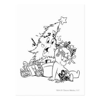 Árbol de navidad de Casper Tarjetas Postales