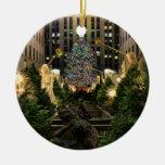 Árbol de navidad de centro de NYC Rockefeller, Adorno Redondo De Cerámica