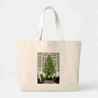 Árbol de navidad de centro de Rockefeller Bolsas Lienzo