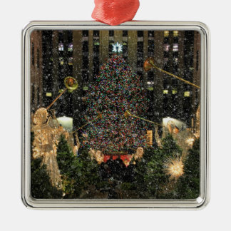 Árbol de navidad de centro de Rockefeller, Adorno Cuadrado Plateado
