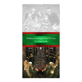 Árbol de navidad de centro de Rockefeller, su foto Tarjetas Fotograficas Personalizadas