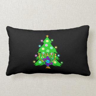 Árbol de navidad de Chanukah Menorah Cojín