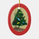 Árbol de navidad de Cocotte Adorno Ovalado De Cerámica