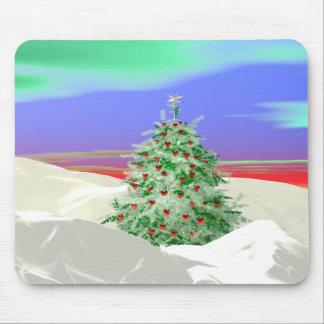 Árbol de navidad de corazones alfombrilla de raton