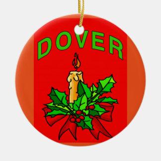 Árbol de navidad de Dover Delaware Adorno Navideño Redondo De Cerámica