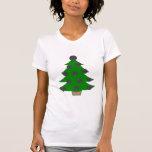 Árbol de navidad de la bola de bolos camiseta