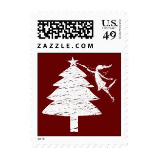 Árbol de navidad de la hada del arte sello