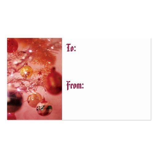 Árbol de navidad de la malla tarjetas de visita