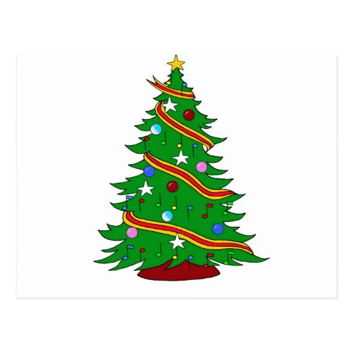 Árbol de navidad de la nota musical tarjeta postal