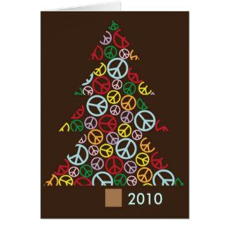 Árbol de navidad de la paz tarjeta de 2010 días de
