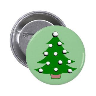 Árbol de navidad de la pelota de golf pin redondo de 2 pulgadas