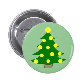 Árbol de navidad de la pelota de tenis pin redondo de 2 pulgadas