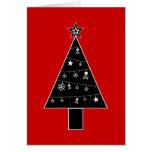 Árbol de navidad de la tarjeta del día de fiesta d