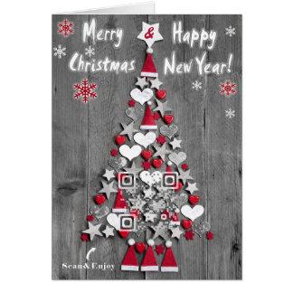 Árbol de navidad de la tarjeta del QR-código de