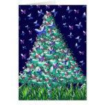 Árbol de navidad de las naturalezas felicitación