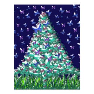 Árbol de navidad de las naturalezas tarjetón