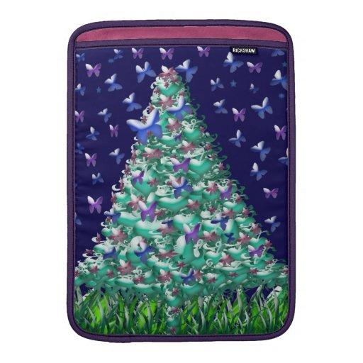 Árbol de navidad de las naturalezas fundas macbook air