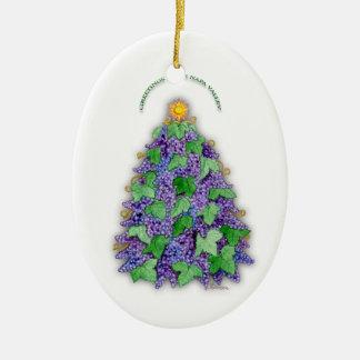 Árbol de navidad de las uvas de Napa Valley Ornamento Para Arbol De Navidad