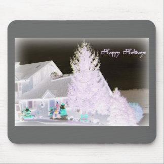 Árbol de navidad de Lavendar Mousepad