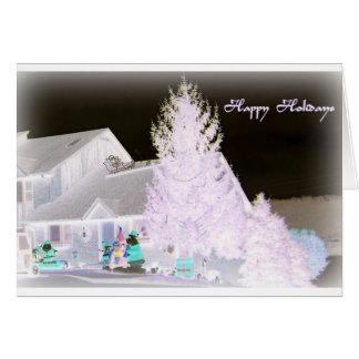 Árbol de navidad de Lavendar Tarjeta De Felicitación