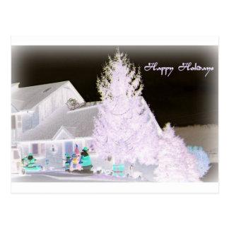 Árbol de navidad de Lavendar Tarjetas Postales
