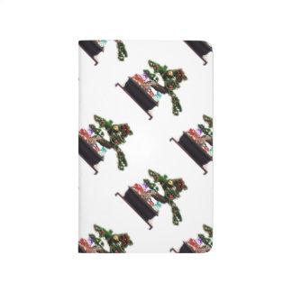 Árbol de navidad de los bonsais cuaderno grapado