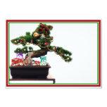 Árbol de navidad de los bonsais invitaciones personales