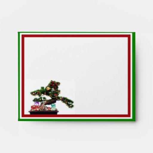 Árbol de navidad de los bonsais sobres