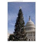 Árbol de navidad de los E.E.U.U. Capitol Hill Felicitaciones