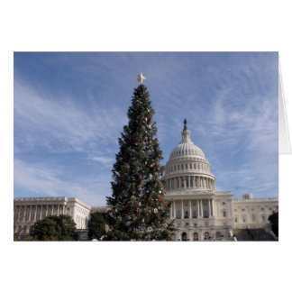 Árbol de navidad de los E.E.U.U. Capitol Hill Tarjeta De Felicitación