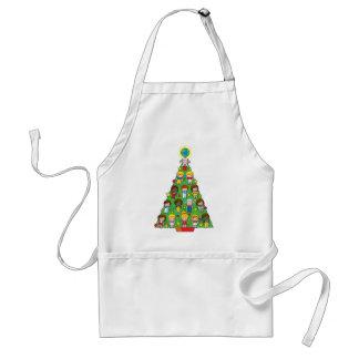Árbol de navidad de los niños del país delantal