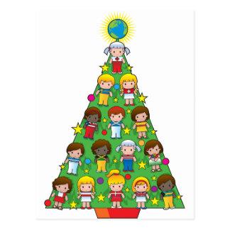 Árbol de navidad de los niños del país postal