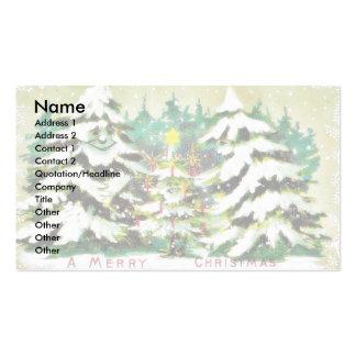 Árbol de navidad de los saludos de la estación pue plantillas de tarjetas de visita