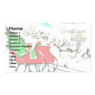 Árbol de navidad de los saludos de la estación pue tarjeta de visita
