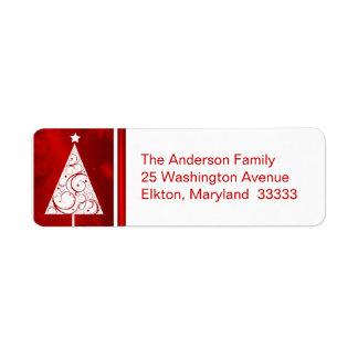 Árbol de navidad de lujo - etiquetas del remite etiqueta de remite