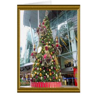 Árbol de navidad de Manniquin Felicitacion