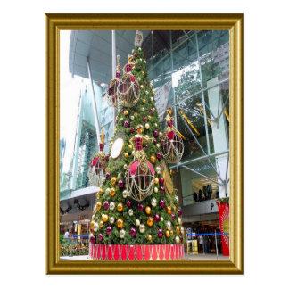 Árbol de navidad de Manniquin Tarjetas Postales