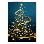 Árbol de navidad de oro felicitación